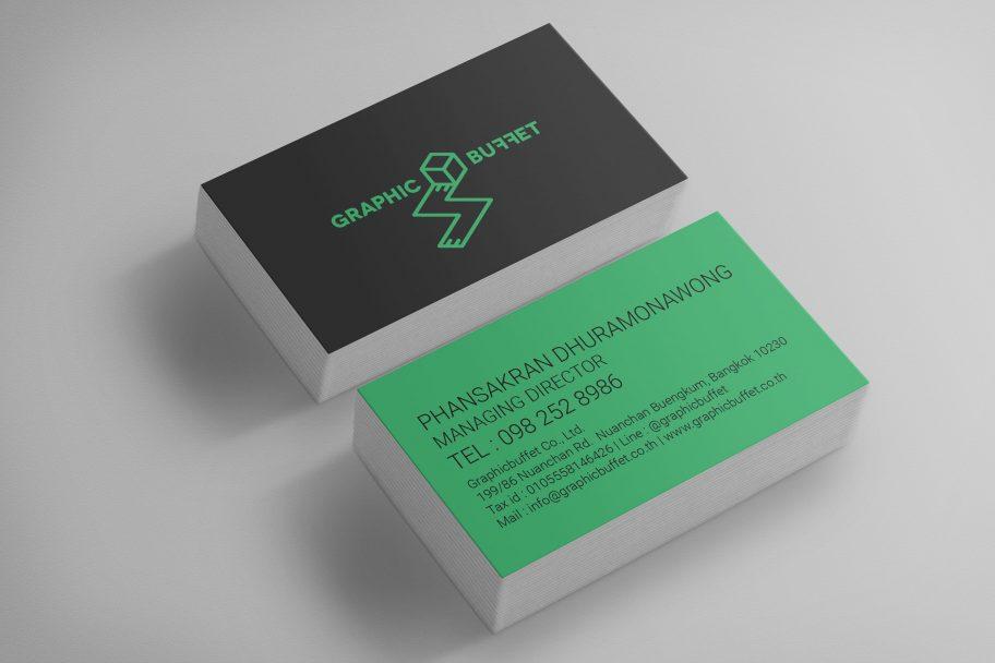 ออกแบบนามบัตร บริษัท GraphicBuffet จำกัด
