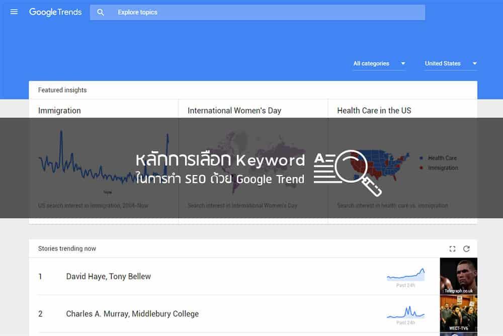 หลักการเลือก Keyword ในการทำ SEO ด้วย Google Trend