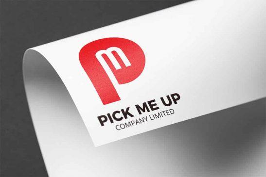 ออกแบบโลโก้ Pick Me Up