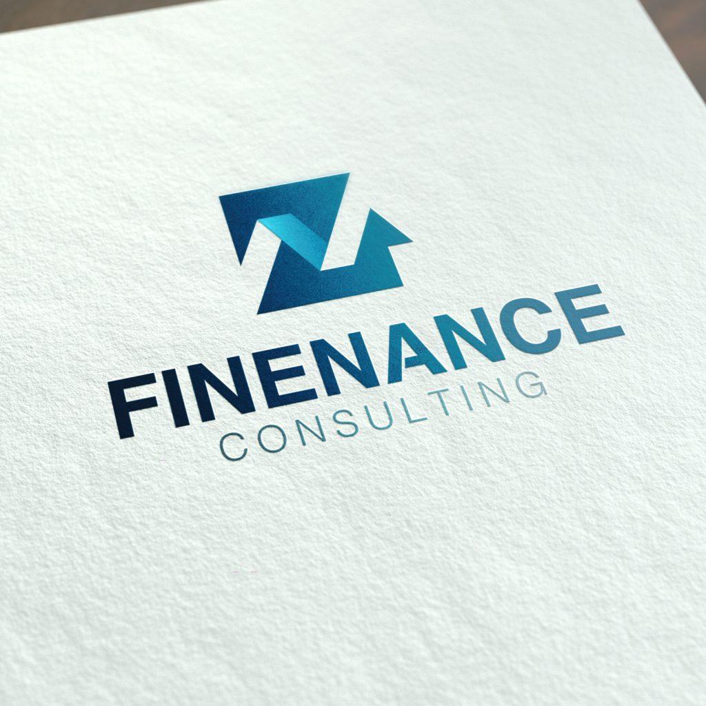 ออกแบบ Logo finenance consulting