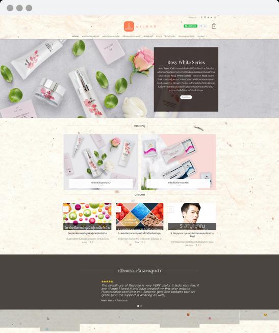 รับทำเว็บไซต์ รับออกแบบเว็บไซต์ ailean