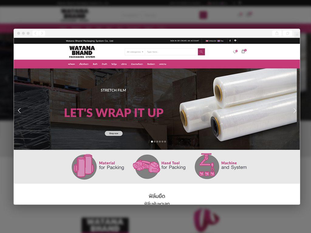 รับทำเว็บไซต์ รับออกแบบเว็บไซต์_Watana Bhand