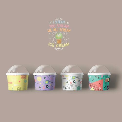 การออกแบบ Packaging  'ICE CREAM'
