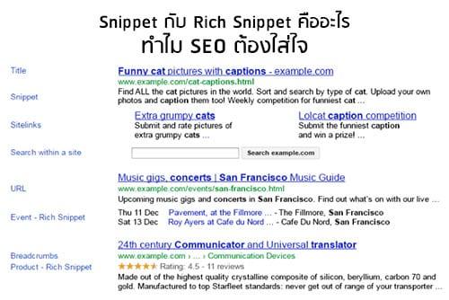 Snippet กับ Rich Snippet คืออะไร ทำไม SEO ต้องใส่ใจ