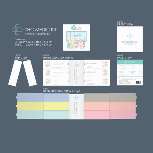 รับออกแบบบรรจุภัณฑ์ SHC Medic Kit ชุดยาสามัญประจำบ้าน