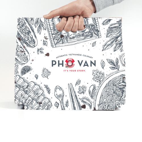 ออกแบบ Packaging 'PHO VAN'