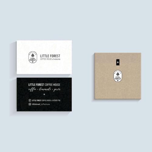 รับออกแบบบรรจุภัณฑ์ และนามบัตร Little Forest