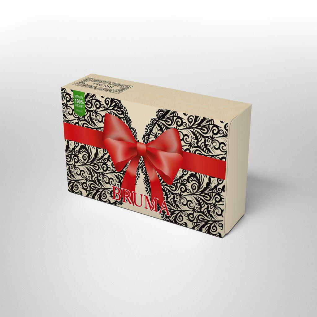 ออกแบบกล่อง Bruma ผลิตภัณฑ์เสริมอาหาร อกฟูรูฟิต
