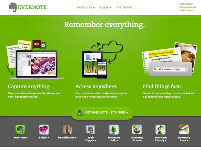 evernote-landing-page