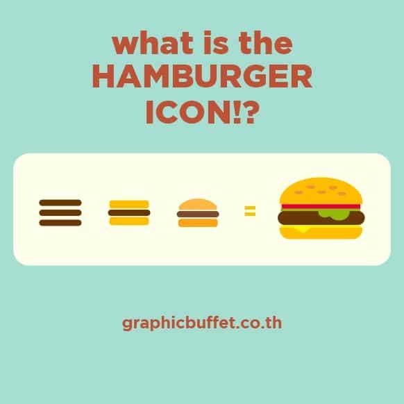 ความหมายของ Hamburger Icon ปุ่ม 3 ขีด บน Mobile Web
