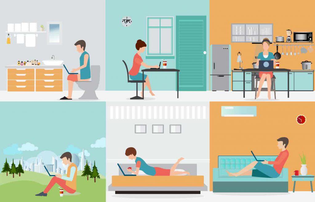 เทรนด์การทำงาน รูปแบบใหม่ Work at home อยู่บ้านก็ทำงานได้