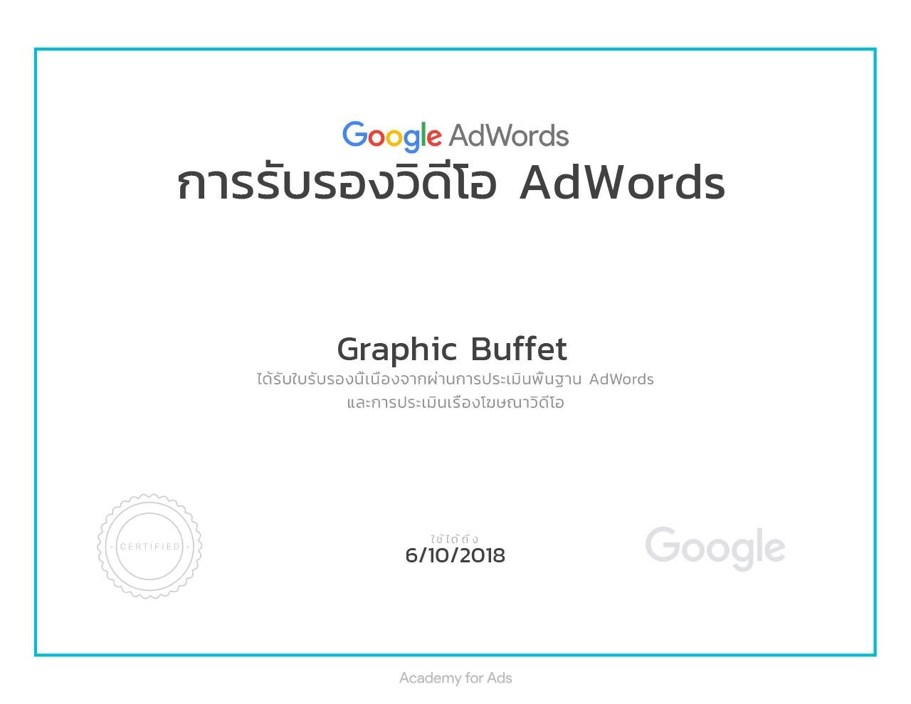 certificate 03640 6832681 รับทำ Google Adwords