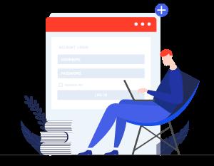 login 1 Landing Page Design
